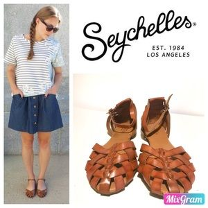 Seychelles brown covered sandals